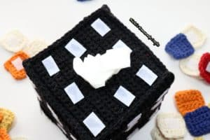 Rubik's cube tissue box cover base with velcro