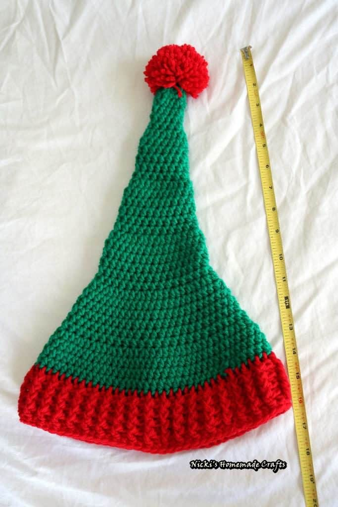 Elf hat with pom pom free crochet pattern nicki 39 s for Pom pom craft patterns