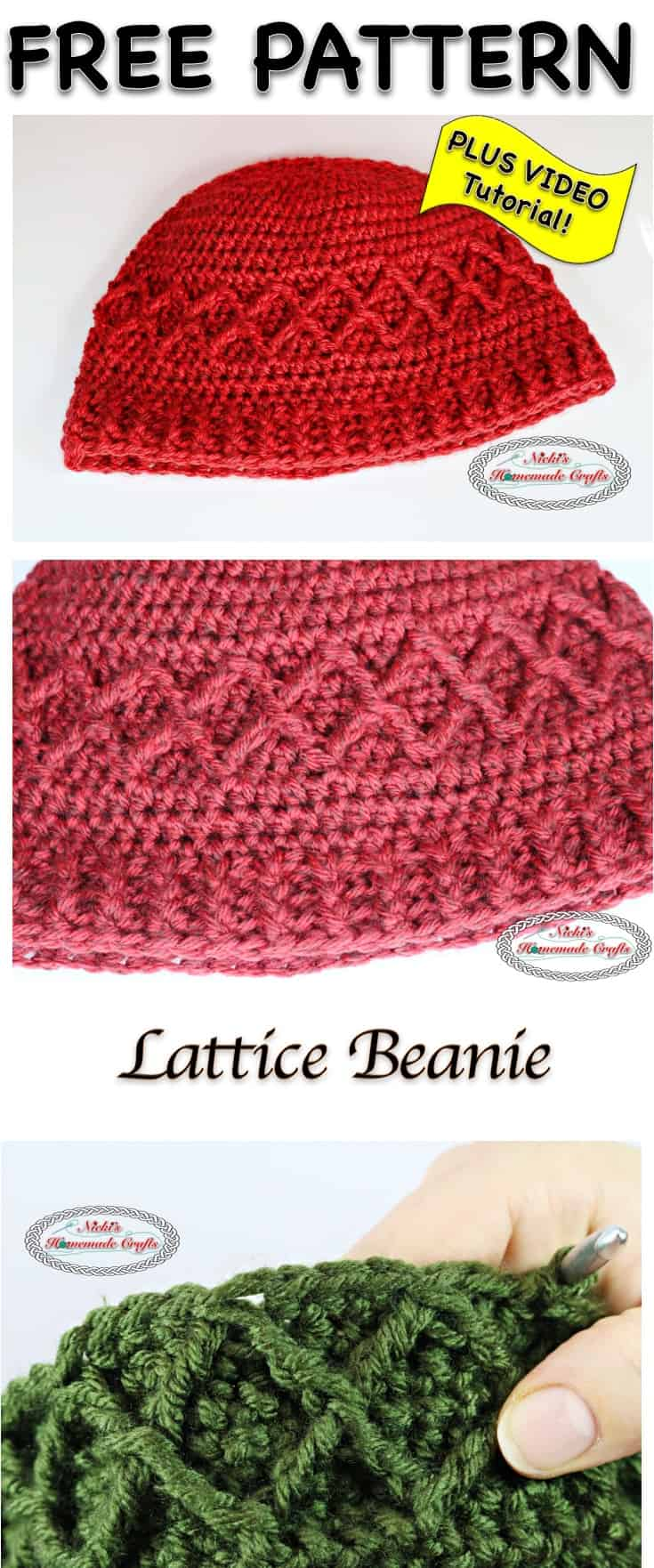 Lattice Beanie - Free Crochet Pattern