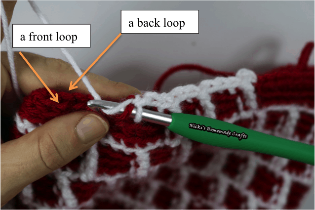 Learn the Quadruple Single Crochet Stitch like Tunisian Crochet back and front loop