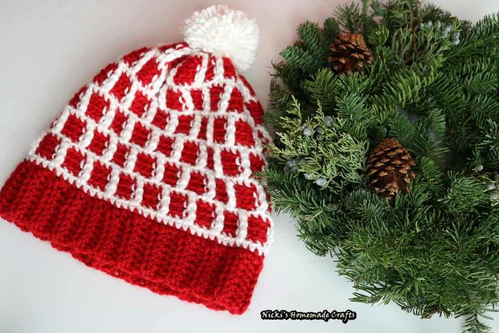 Single Crochet Tunisian Hat - Bee Happy Beanie