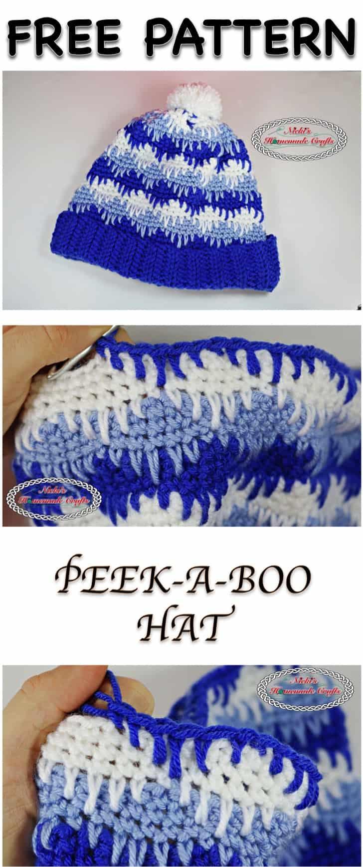 PEEK-A-BOO Hat Free Pattern