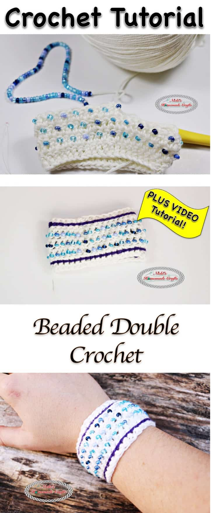 Beaded Double Crochet - Crochet Stitch Tutorial