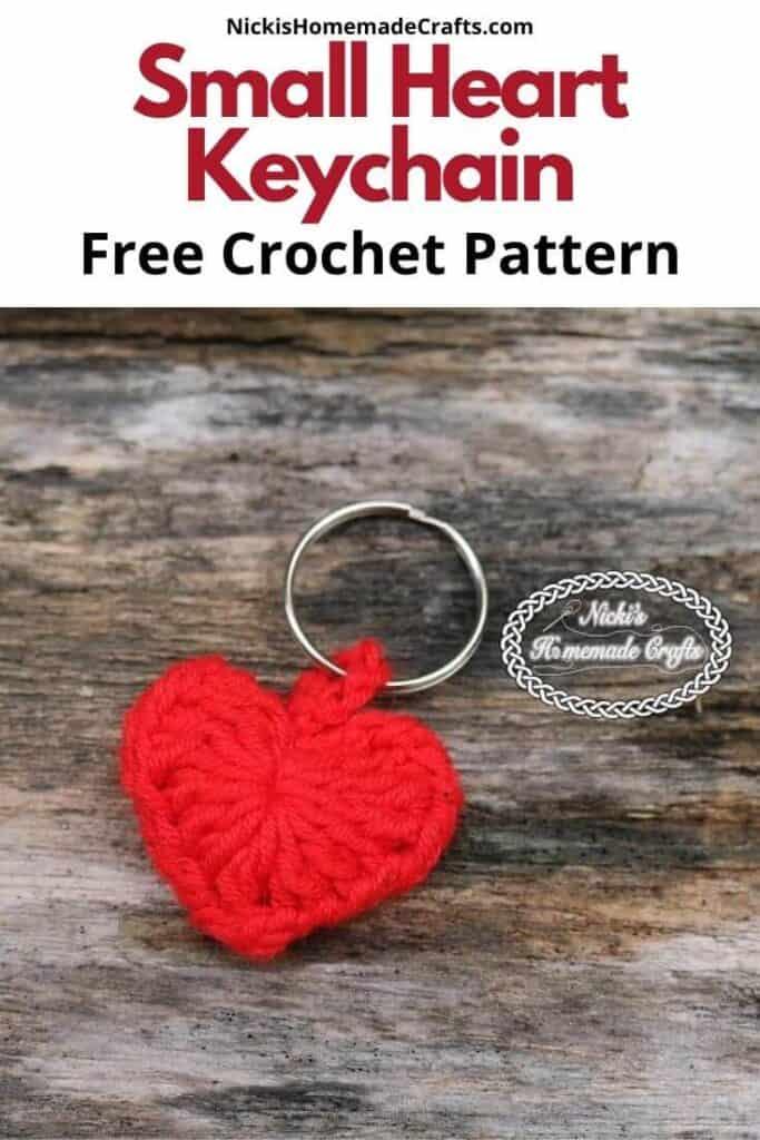 Crochet Small Heart Keychain Pattern