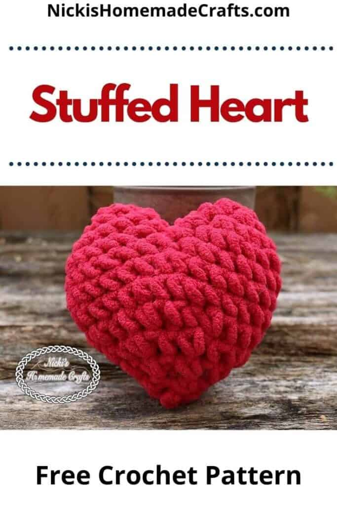 Crochet Stuffed Heart Pattern