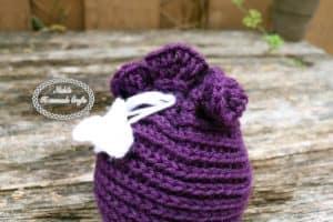 Valentine's Candy Bag Pattern – Free Crochet Pattern