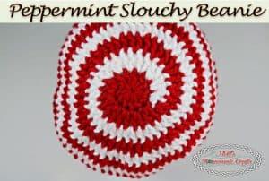 Peppermint Slouchy Beanie – Free Crochet Pattern