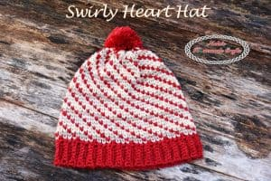 Swirly Heart Hat -Free Crochet Pattern