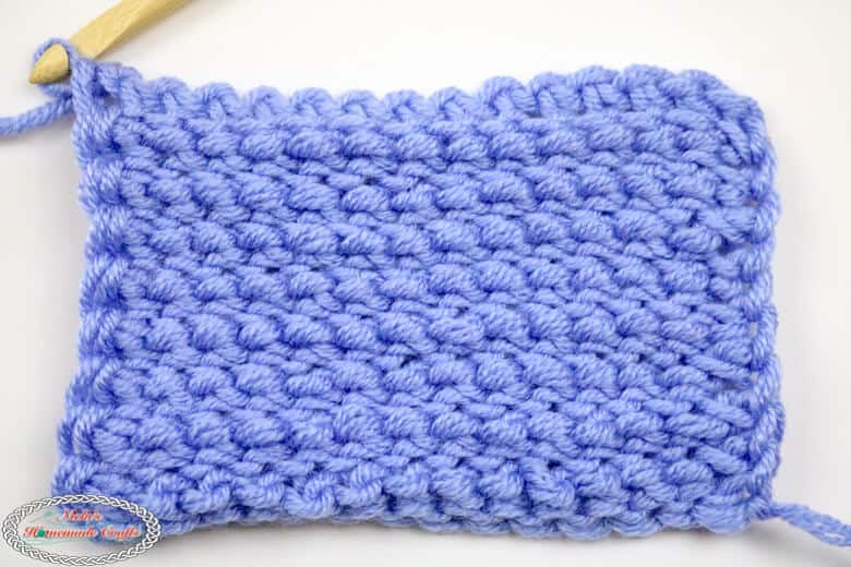 back of Tunisian Simple Crochet Stitch
