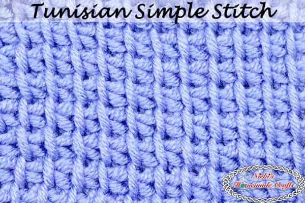 Tunisian Simple Crochet Stitch - video and Photo Tutorial