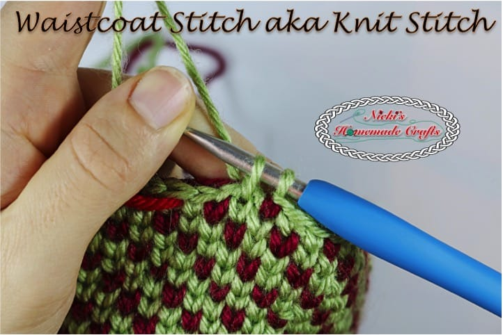 waistcoat stitch crochet tutorial row and rounds