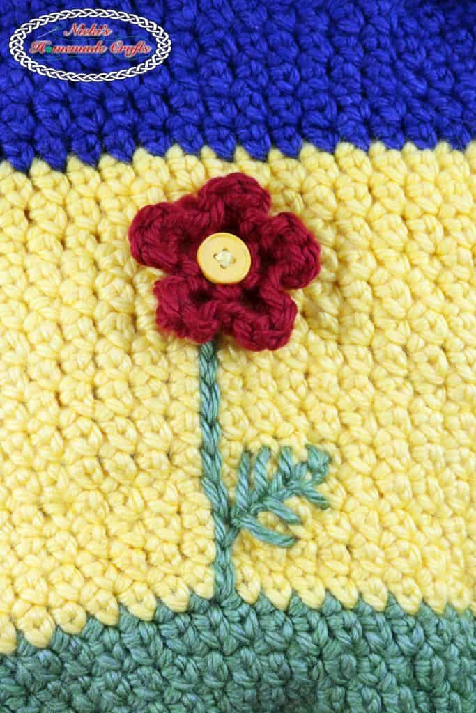 Flower Basket Free Crochet Pattern by Nicki's Homemade Crafts
