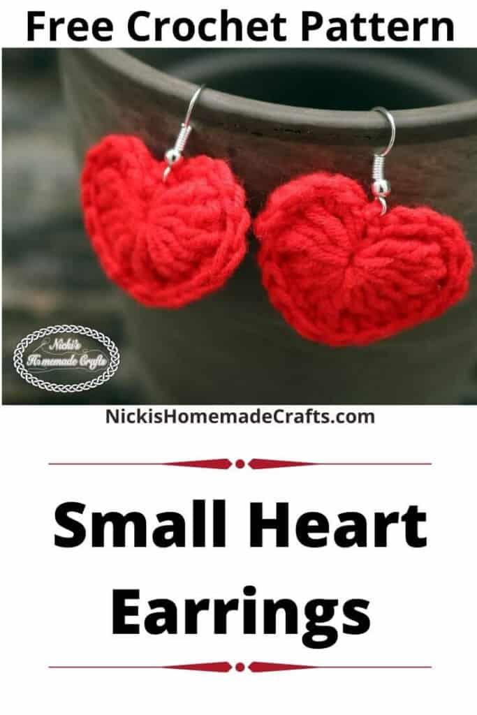 Small Heart Earrings - Free Crochet Pattern