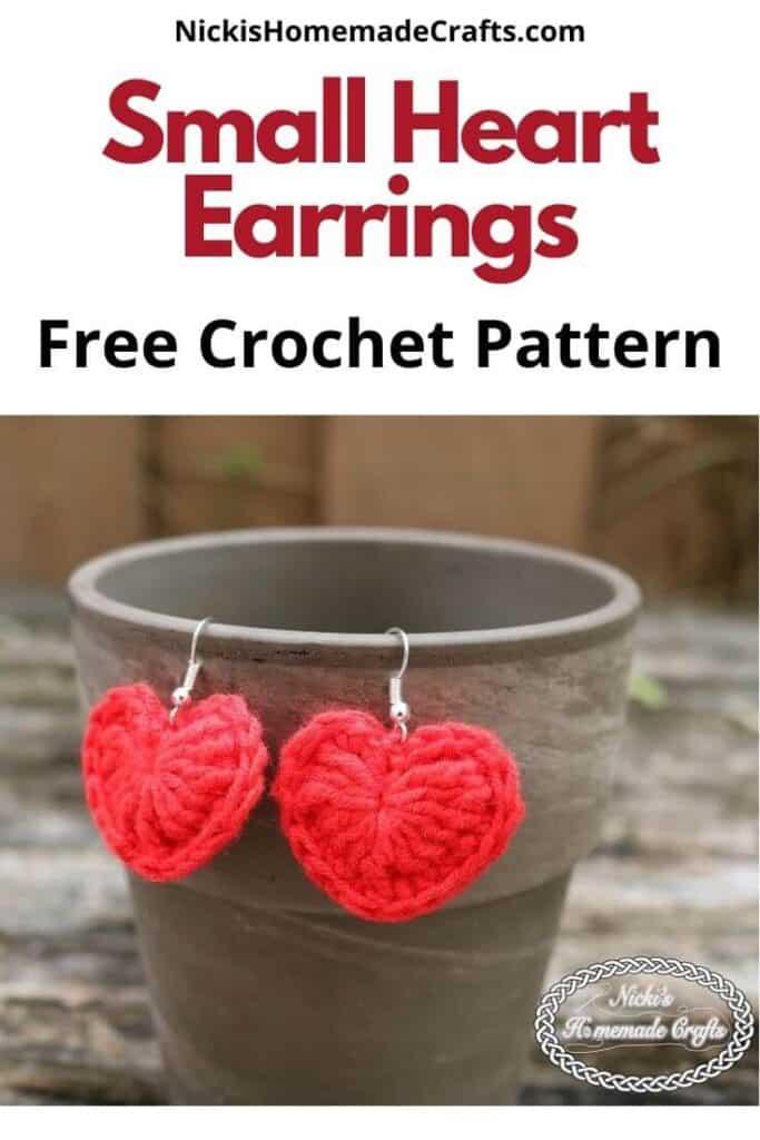 Small Heart Earrings Pattern