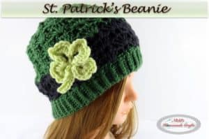 St. Patrick's Beanie – Free Crochet Pattern