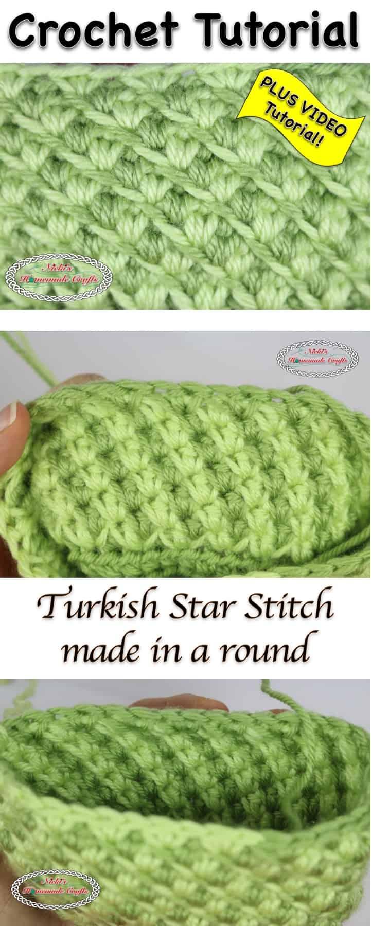 Turkish Star Stitch - Crochet Tutorial by Nicki's Homemade Crafts