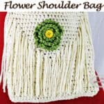 Crochet Shoulder Bag with Flower