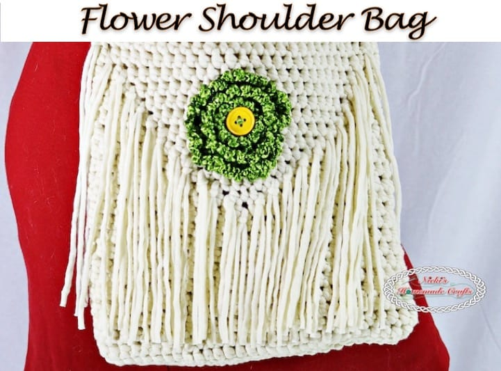 Flower Shoulder Bag Free Crochet Pattern Nickis Homemade Crafts