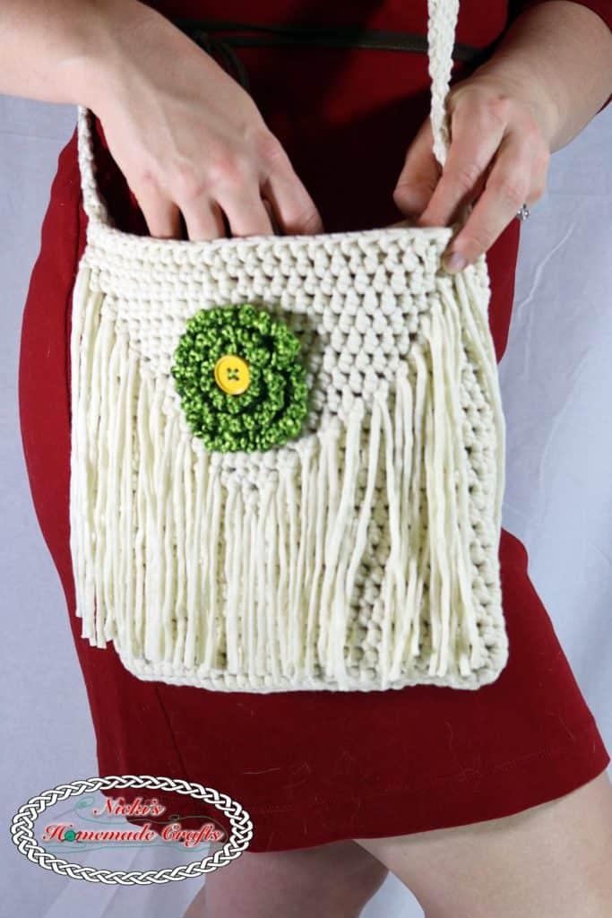 Flower Shoulder Bag Mother's Day Free Crochet Patterns Collection - Nicki's Homemade Crafts