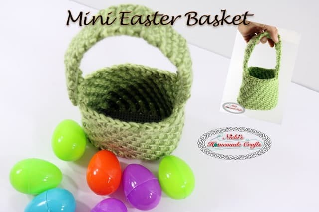 Mini Easter Basket Free Crochet Pattern Nickis Homemade Crafts