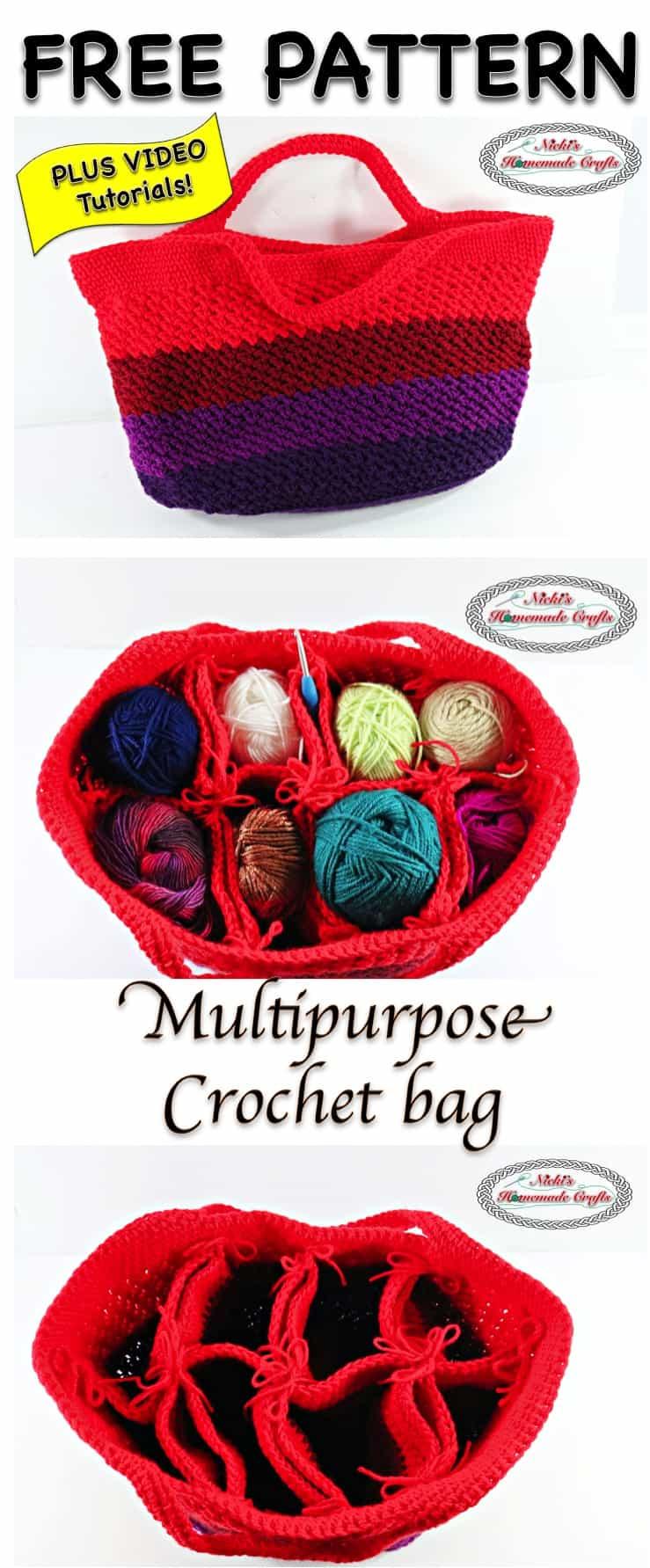 Multipurpose Crochet Bag - Free Crochet Pattern