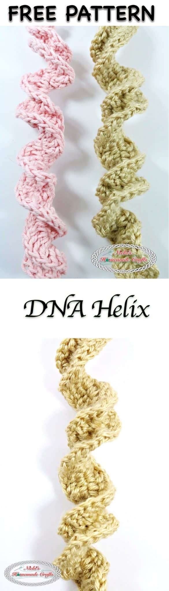 DNA Helix - Free Crochet Pattern by Nicki's Homemade Crafts