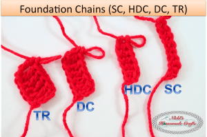 Tutorial: Crochet Chainless Foundation Chain for sc, hdc, dc and tr