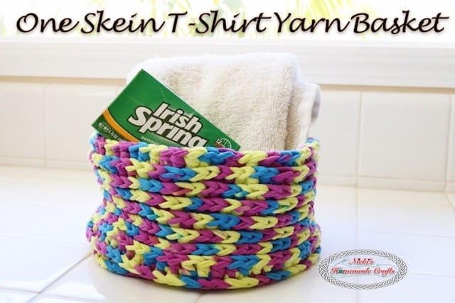 One skein t shirt yarn basket free crochet pattern nickis one skein t shirt yarn basket free crochet pattern nickis homemade crafts dt1010fo