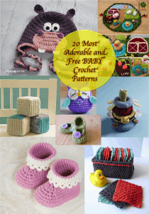 20 Most Adorable Free Baby Crochet Patterns