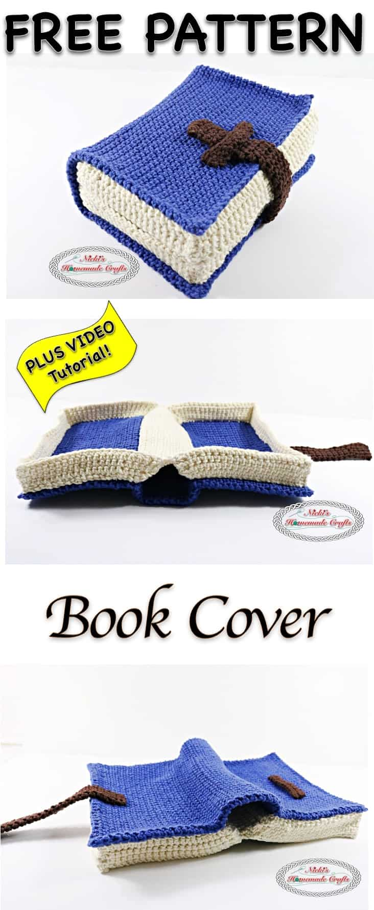 Book Cover Crochet Hats : Book cover free crochet pattern nicki s homemade crafts