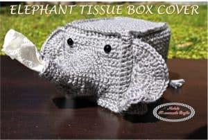 Elephant Tissue Box Cover- Free Crochet Pattern