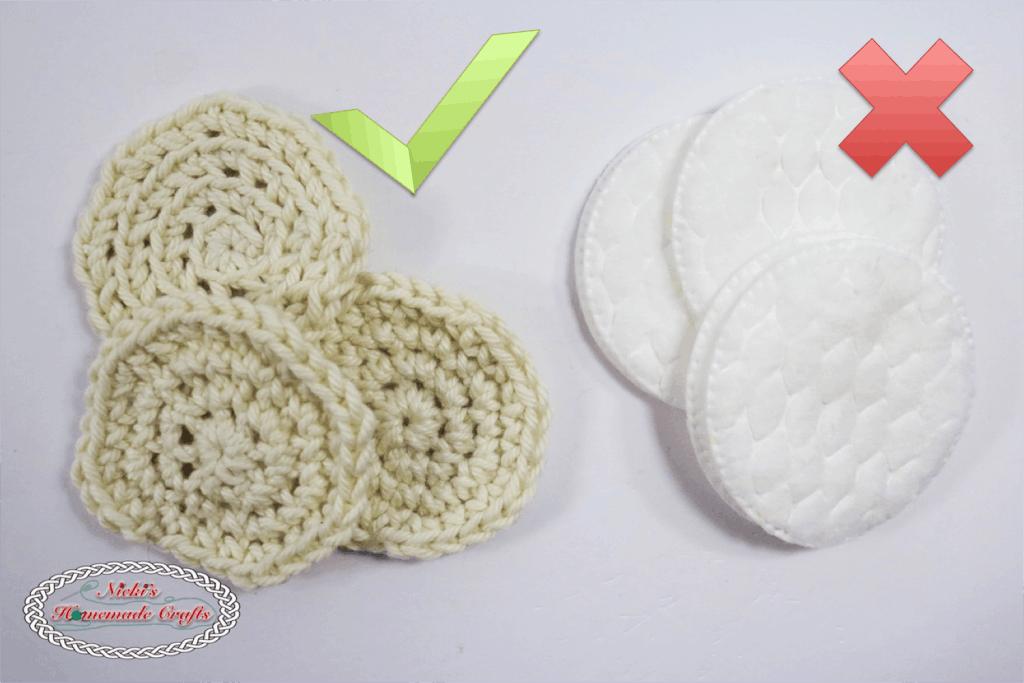 Facial Scrub and Cotton pads