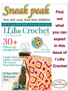 I Like Crochet Magazine June 2017 Issue Review and Sneak Peak