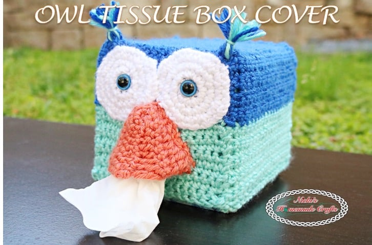 Panda Bear Tissue Box Cover Free Crochet Pattern Nickis
