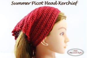 Summer Picot Head Kerchief – Free Crochet Pattern