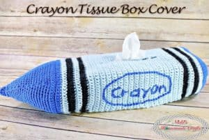 Crayon Tissue Box Cover – Free Crochet Pattern