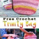 Crochet Project Bag with Trinity Stitch