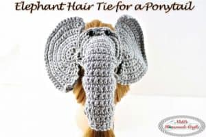 Elephant Hair tie for a Ponytail – Free Crochet Pattern