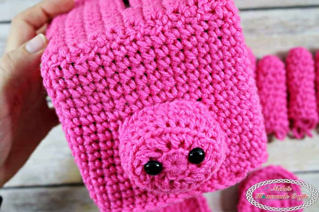 Piggy Bank Tissue Box - Free Crochet Pattern