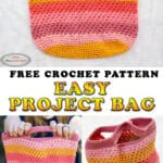 Easy Project Bag - Trinity Bag - Free Pattern
