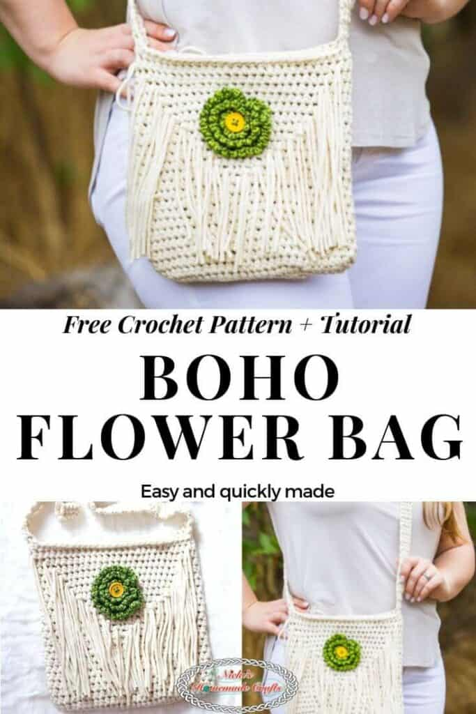 Boho Flower Bag- Free crochet pattern