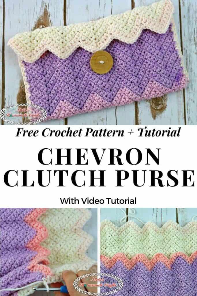 Chevron Clutch Purse - free Crochet pattern