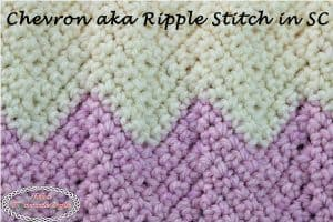 How to do the Chevron or Ripple Stitch in Single Crochet – Crochet Tutorial
