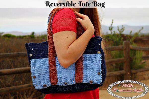 Crochet Reversible Tote Bag Pattern