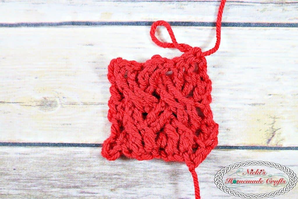 celtic weave stitch crochet tutorial