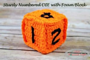 Sturdy Numbered Die with Foam Block – Free Crochet Pattern