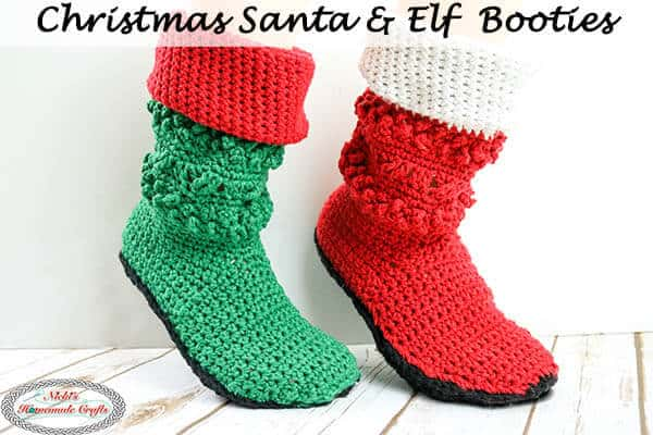 Crochet Santa & Elf Booties