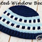 Frosted Window Beanie - Free Crochet Pattern by Nicki's Homemade Crafts #crochet #frosted #frosty #window #beanie #hat #blue #head