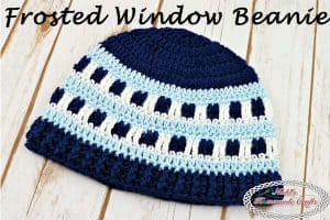 Frosted Window Beanie – Free Crochet Pattern