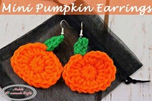 Mini Pumpkin Earrings – Free Crochet Pattern